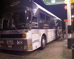 Refueling Noah's Ark around 1AM somewhere in West Virginia.