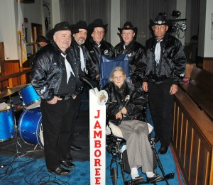 The Brothers & Co. with Lois Deer at the Wheeling Jamboree radio show in March 2011.
