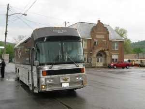 The Brothers & Co. Bus in front of the Paxton Theatre in Bainbridge, Ohio - Home of The Paint Valley Jamboree!